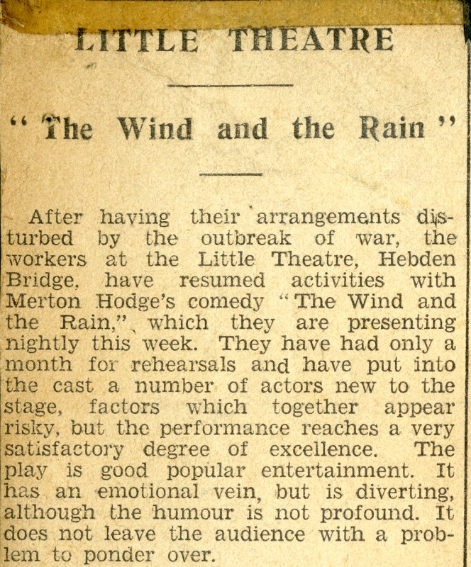 The Wind and the Rain press cutting