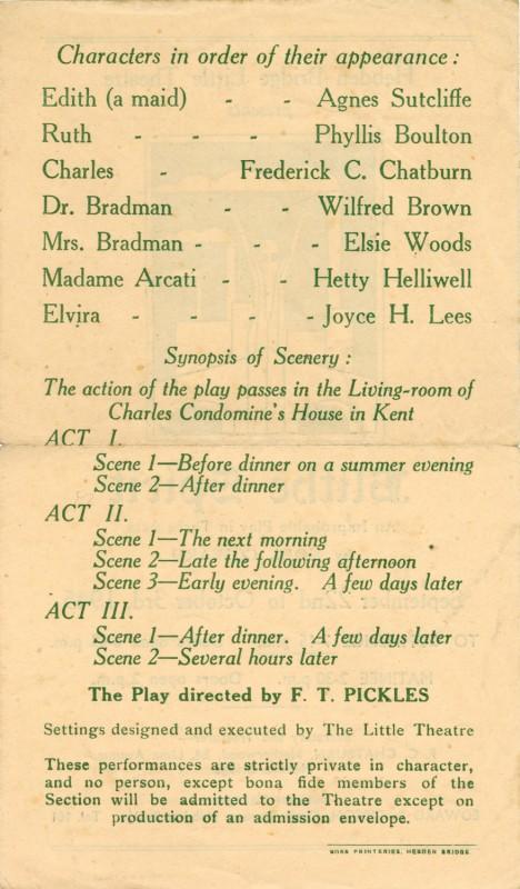 Programme for Blithe Spirit, 1945