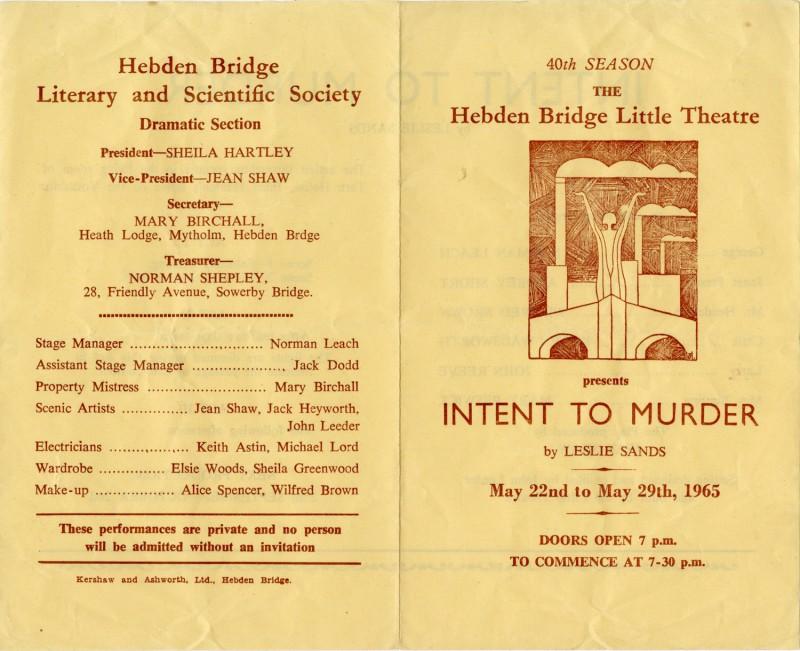 Intent to Murder, 1965