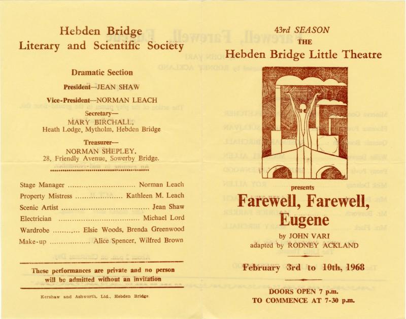 Farewell, Farewell, Eugene, 1968