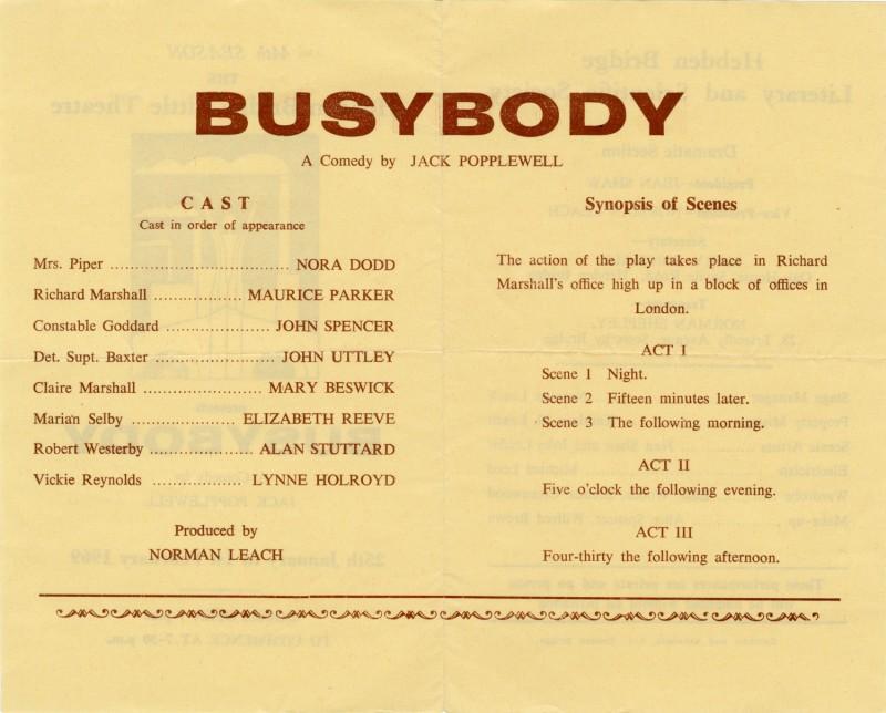 Busybody, 1969