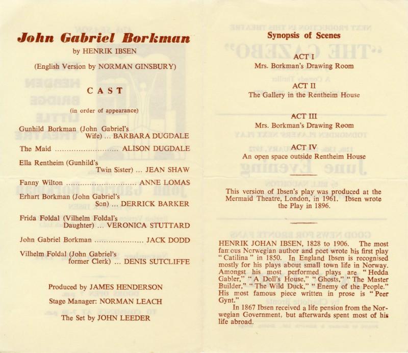 John Gabriel Borkman, 1971
