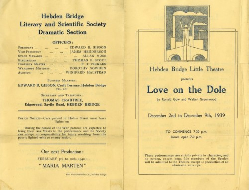 Love on the Dole, 1939