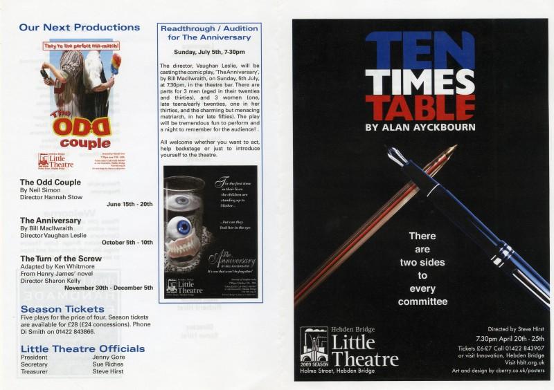 Ten Times Table, 2009