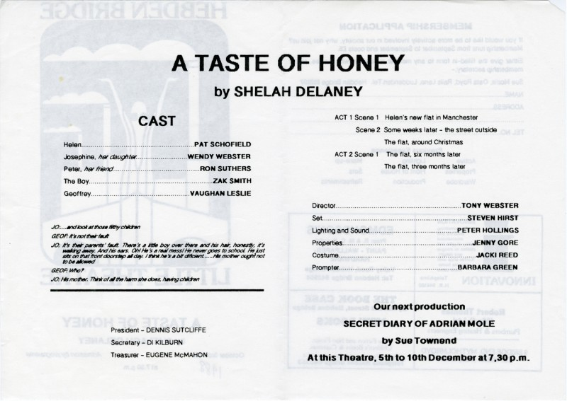A Taste of Honey, 1988