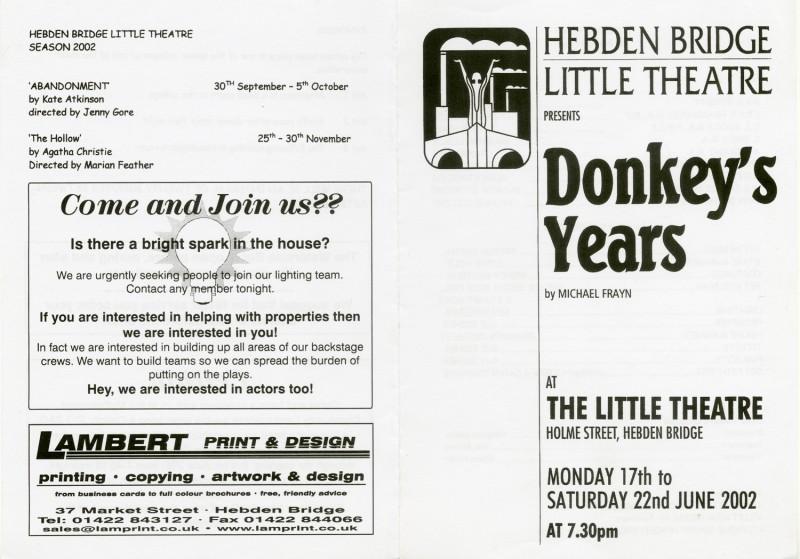 Donkey's Years, 2002