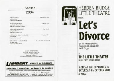 Let's Divorce programme, 2003