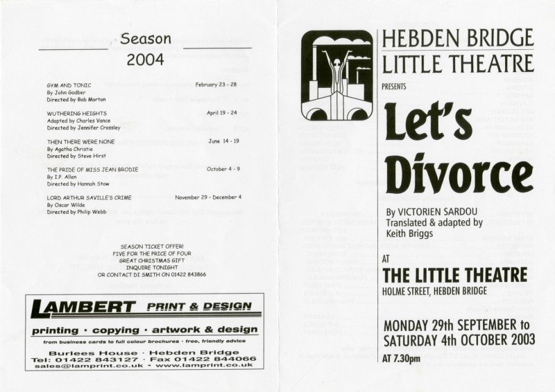 Let's Divorce programme, 2003