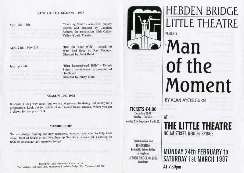 Man of the Moment, 1997