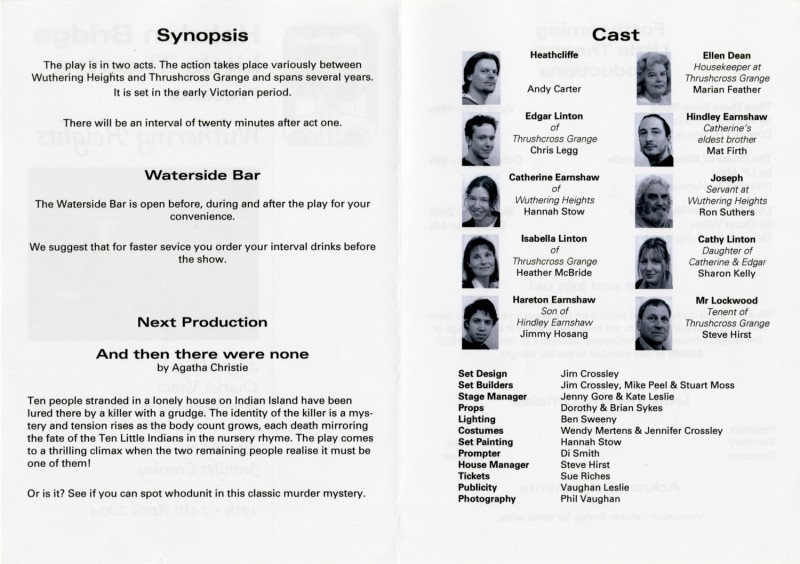 Wuthering Heights programme, 2004