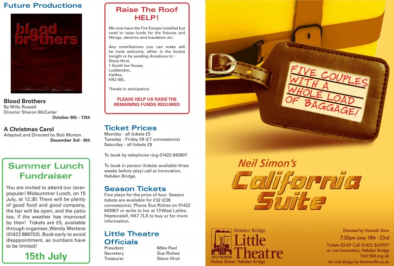 California Suite Programme, 2012