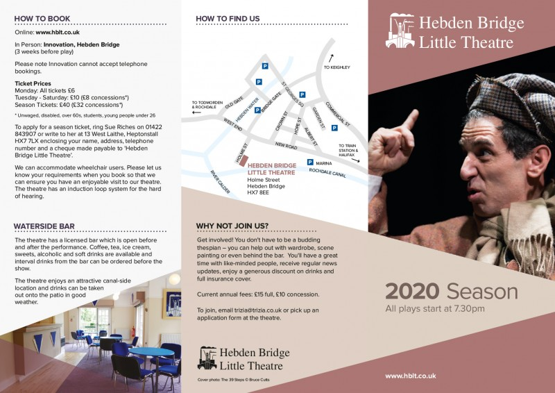 Hebden Bridge Little Theatre Season Programme 2020, outer