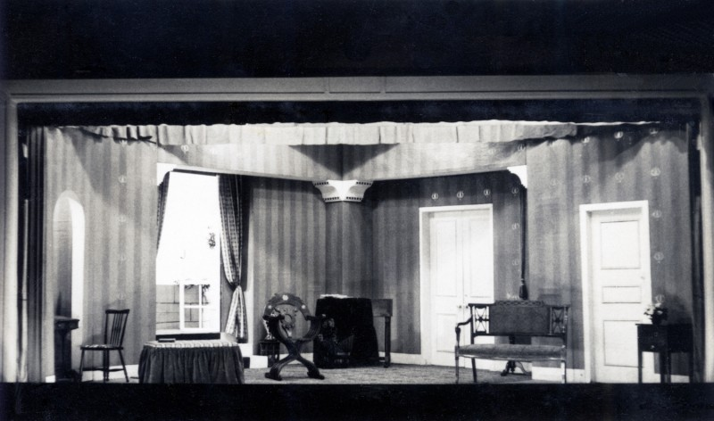 Set for He Was Born Gay, by Emlyn Williams Directed by Sheila Hartley, 20-29 November 1952