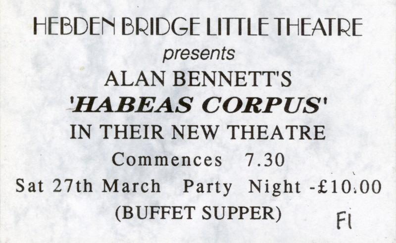 Habeas Corpus Ticket, Party Night