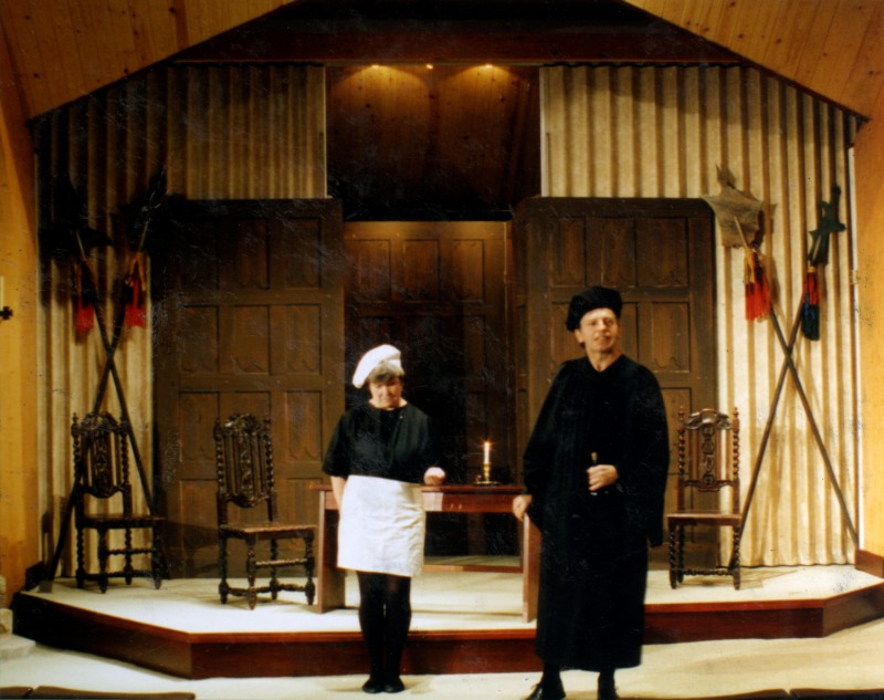 A Man For All Seasons, Little Theatre at The Good Shepherd, 1991, set designed by John Thomas