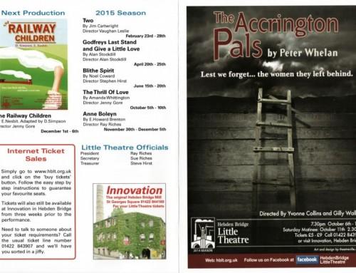 The Accrington Pals, 2014